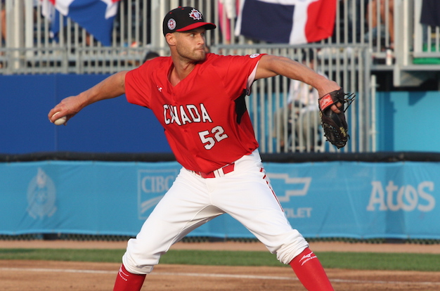 Team Ontario grad RHP Chris Leroux (Mississauga, Ont.) threw his final pitch at the WBC in Miami.