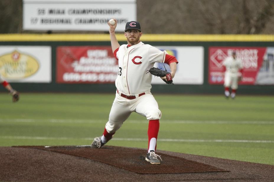Taylor Burns (St. Albert, Alta.) threw a complete game, seven inning shutout as Central Missouri blanked Nebraska-Kearney 11-0.