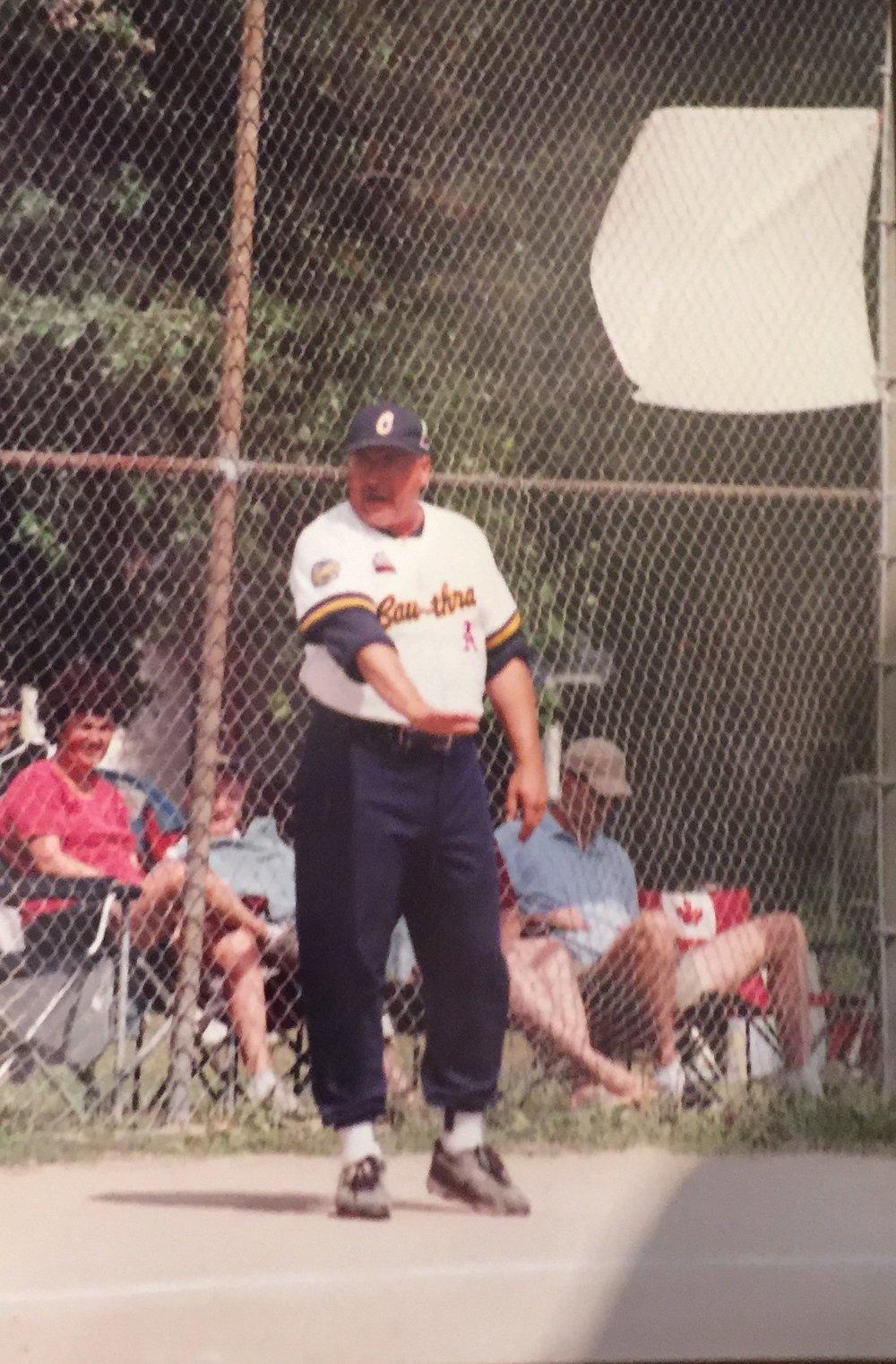 Whitey began coaching the Cawrtha A's.