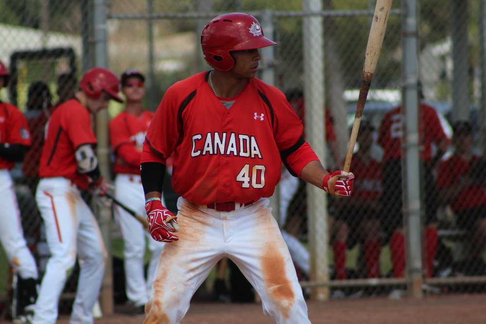 Clayton Keyes (Calgary, Alta.) had a three-hit day including a triple and two stolen bases.