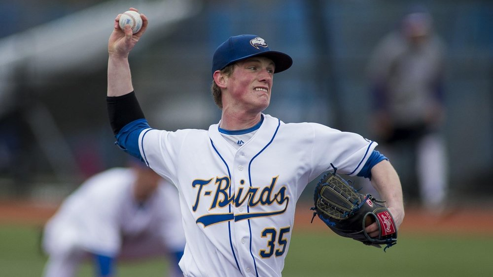 RHP Connor Noble (Vancouver, BC) pitched seven scoreless for UBC