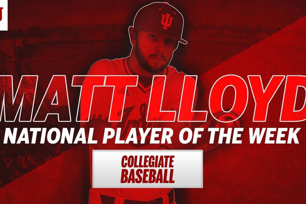 Matt Lloyd (Okotoks, Alta.), the Okotoks Dawgs grad, now at Indinia earred national player of the week honours.