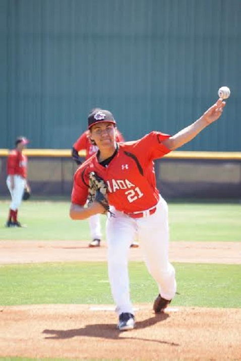Harley Gollert (Toronto, Ont.), an Ontario Blue Jay, allowed one unearned run in three innings.