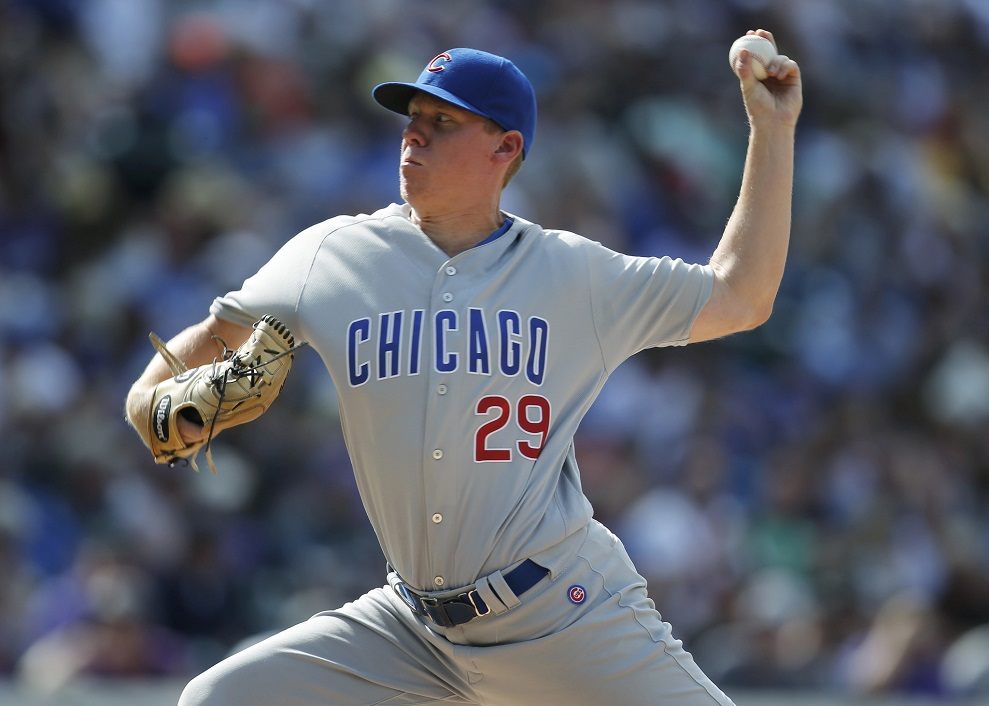 The World Series champ-EEEN Chicago Cubs demoted Rob Zastryzny (Edmont, Alta.) to Triple A Iowa Cubs.