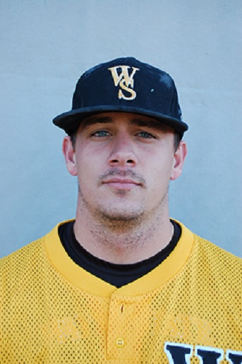 RHP Bobby St. Pierre (Windsor, Ont.) of the Wayne State Wildcats ...