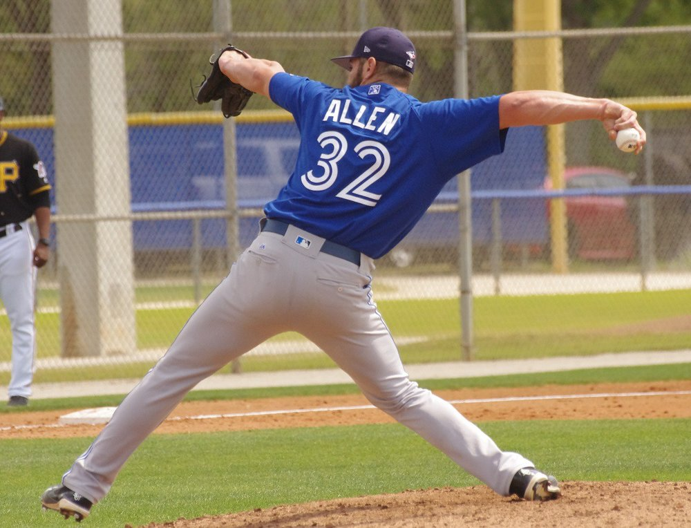 Brad Allen delivers a pitch. All Photos: Jay Blue