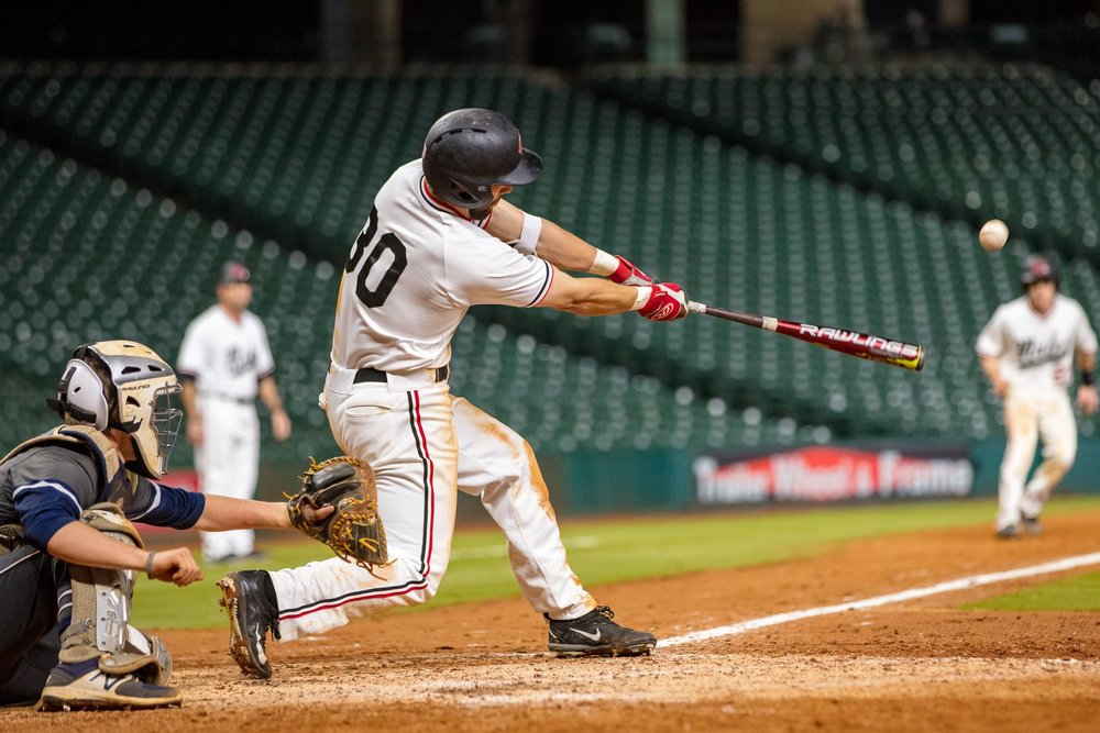 Justin Graff-Rowe (Waterloo, Ont.) of Central Missouri, shown here at Minute Maid Park in Houston earlier this year, went 11-for-16 (.688).
