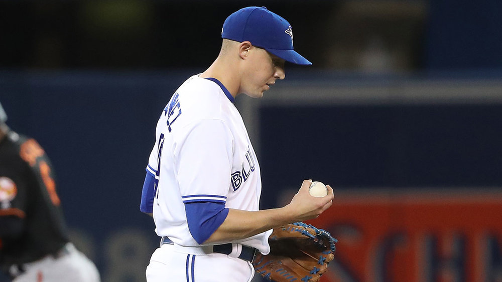 RHP Aaron Sanchez had a piece of his finger nail removed in Kansas City.