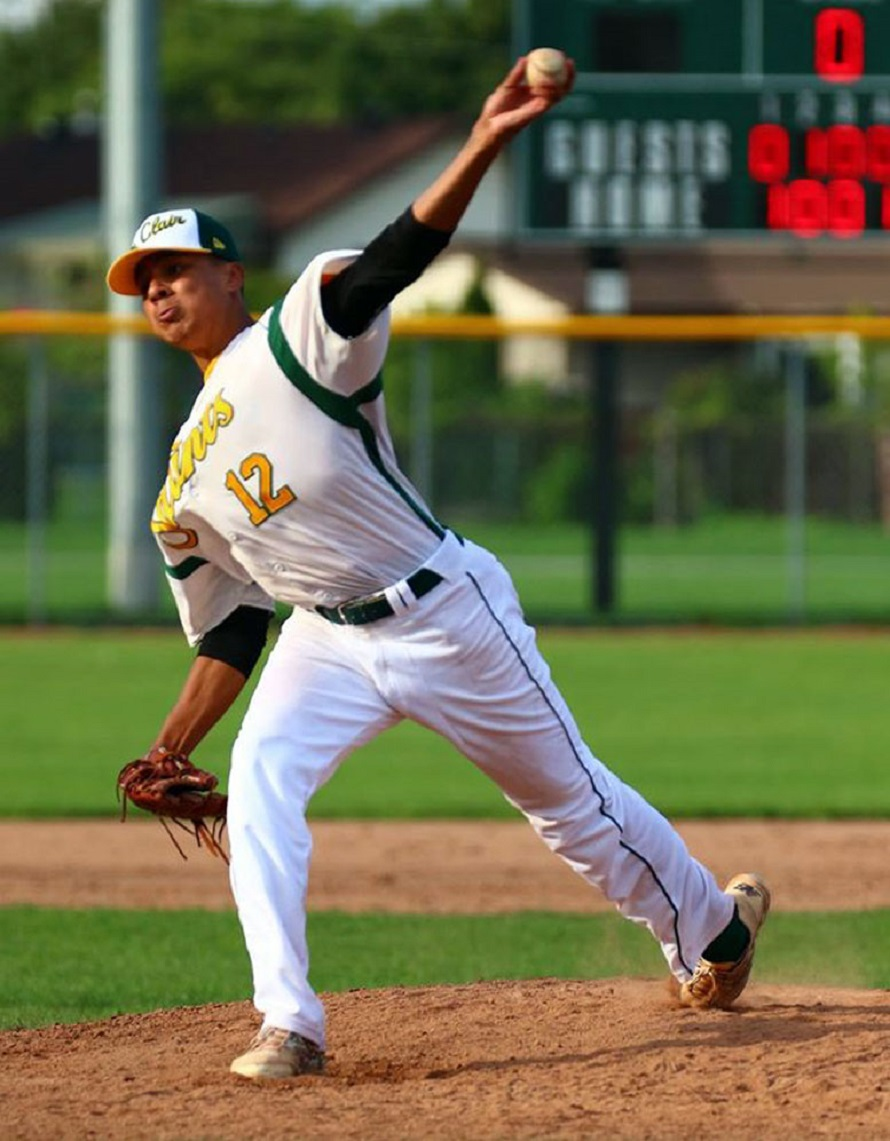 LHP Miguel Cienfuegos (Laval, Que.) of St. Clair Sainnts will pitch this summer for the St. Clair Green Giants.