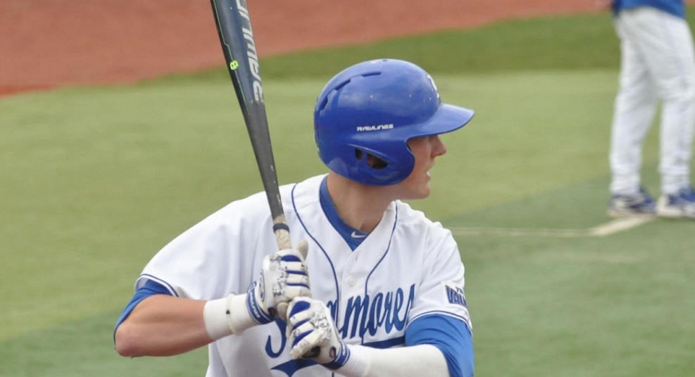 Dane Tofteland (Grande Prairie, Alta.) hit two grand slams on his way to a record setting 11 RBIs for Indiana State.