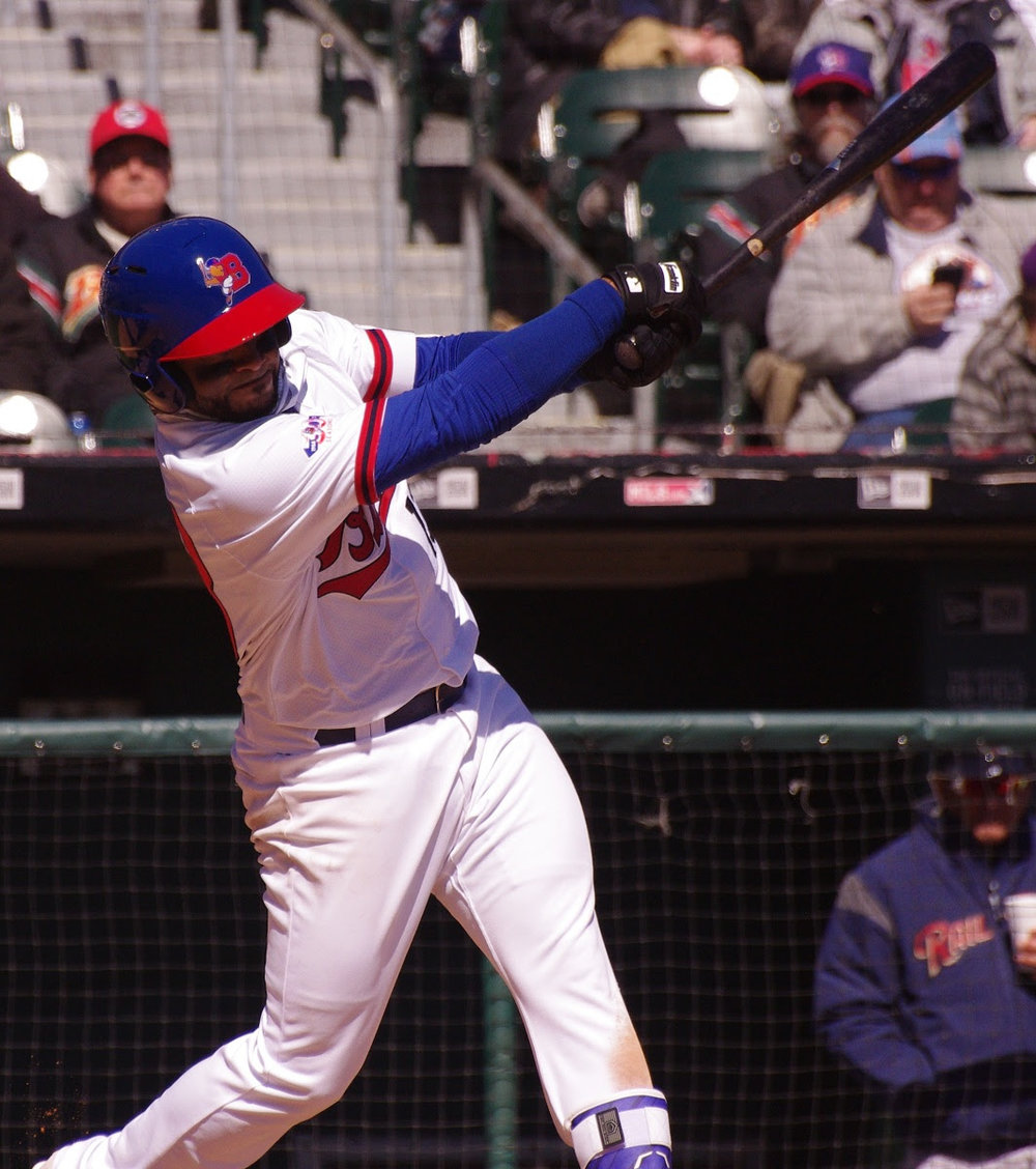 Gregorio Petit was 2-for-3 with a double an RBI for triple-A Buffalo. Photo: Jay Blue.