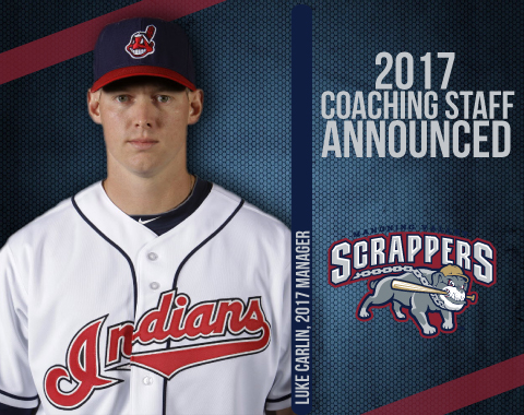 Luke Carlin (Gatineau, Que.) will debut as a manager for the Cleveland Indians New York Penn League affiliate this June.