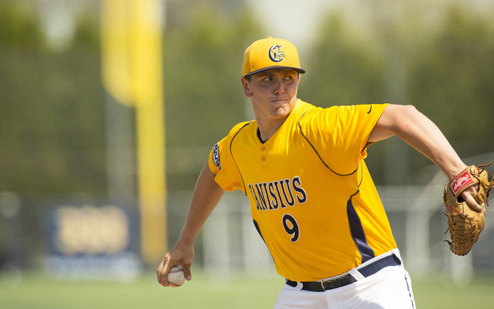 Josh Shepley (Windsor, Ont.) was midway through his junior season at Canisius College when he was told he needed Tommy John surgery. Photo: Canisius College Athletics
