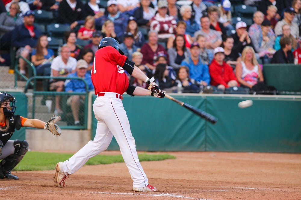 Justin King is battling through a wrist injury he sustained while playing for Indian Hills Community College. He plans to rejoin his hometown Okotoks Dawgs in June. Photo Credit: Amanda Fewer