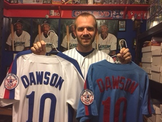 Pineville, La., resident Dustin Puckett has assembled what's likely the largest collection of Andre Dawson memorabilia in the world. Photo Credit: Dustin Puckett.