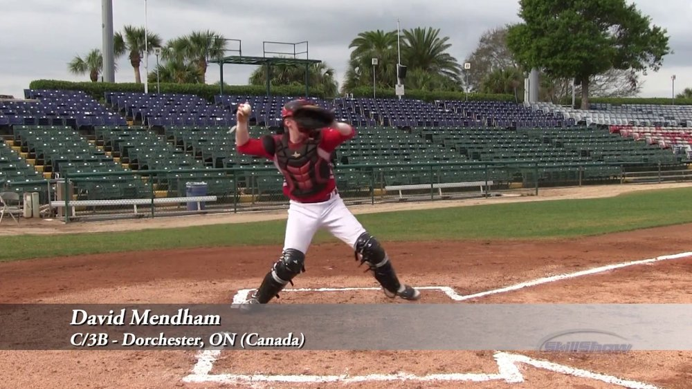 C David Mendham (Dorchester, Ont.) of the Ontario Nationals was the best rated of the six Canadians attending a Perfect Game spring showcase in Cedar Rapids, Iowa.