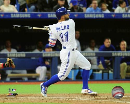Blue Jays centre fielder Kevin Pillar has been selected the club's Honda Player of the Month for April in online voting.