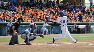Jeremy Barfield, son of Blue Jays slugger Jesse Barfield, is a hit with the Sugar Land Skeeters.