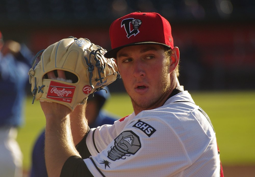 Right-hander Patrick Murphy held the Burlington Bees to two runs in seven innings in his start on Saturday to help the Lansing Lugnuts to a 4-3 win. Photo Credit: Jay Blue