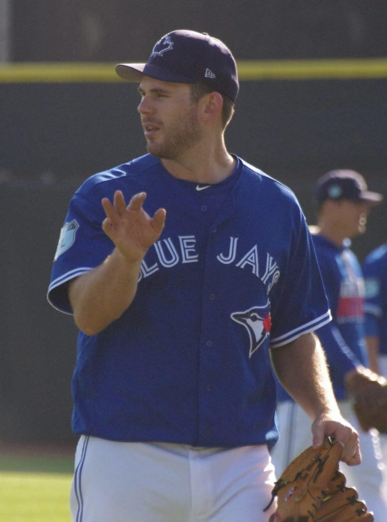 Blue Jays right-hander Joe Biagini allowed just one unearned run in four innings in his first major league start on Sunday. Photo Credit: Jay Blue