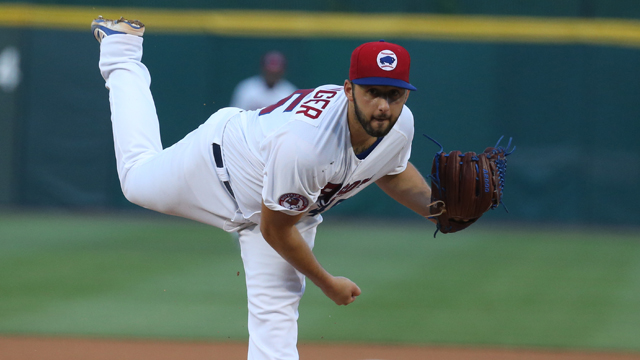 The Toronto Blue Jays have called up 29-year-old right-hander Brian Bolsinger from triple-A to start Tuesday night's game against the Cleveland Indians. Photo Credit: milb.com