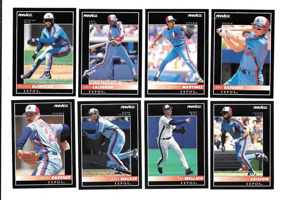 These are eight of the Montreal Expos that were part of the club that was scheduled to play the Los Angeles Dodgers in a three-game series at Dodger Stadium in April 1992 when the Rodney King riots broke out. The series was postponed until July.