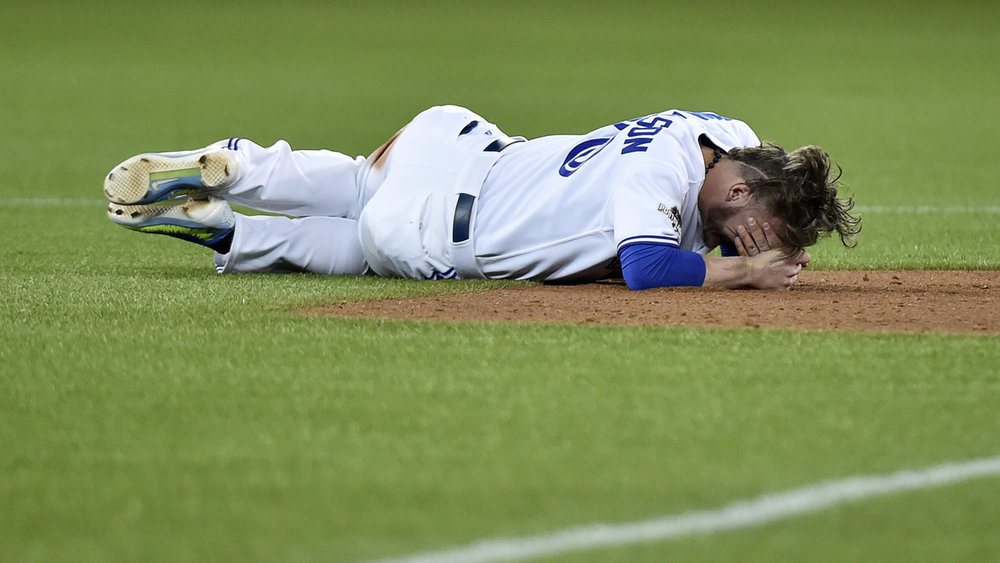 To Josh Donaldson and the approximately 42 other Blue Jays who are injured - the fans feel your pain. (Photo via mlb.com)