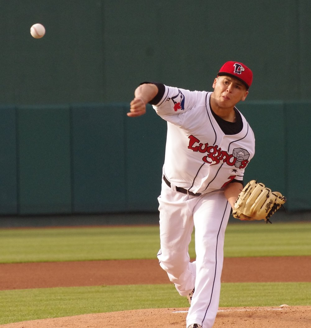 Right-hander Justin Maese tossed a complete game for the Lansing Lugnuts on Thursday, leading his team to a 4-1 win. Photo Credit: Jay Blue