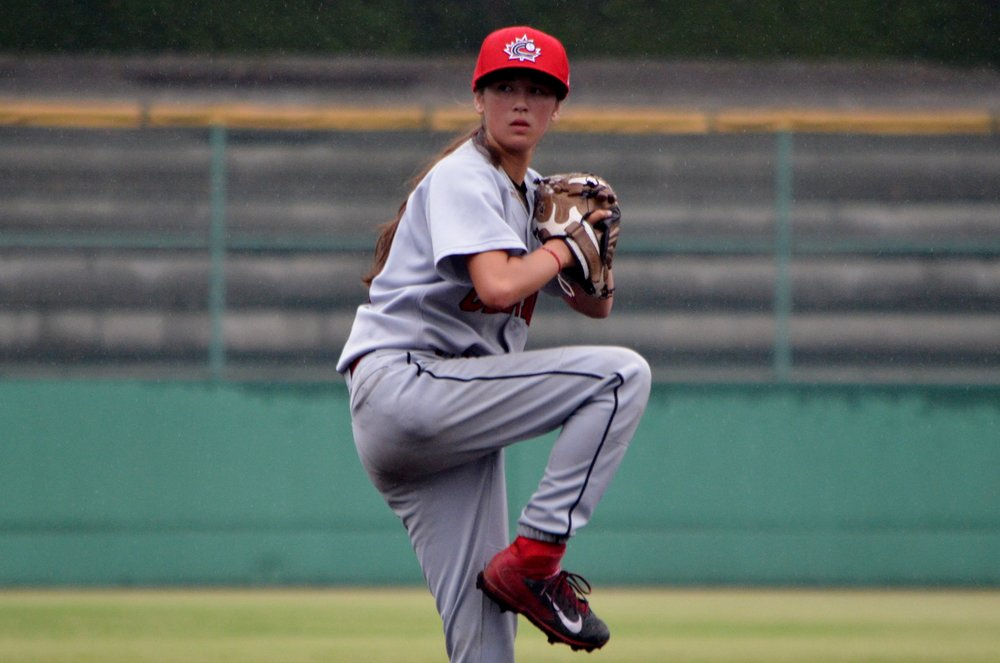 Baseball Canada alum Claire Eccles will join the West Coast League's Victoria HarbourCats this summer and become the first female to play in the circuit. Photo Credit: Alexis Brudnicki