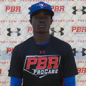 Jaden Brown (Mississauga, Ont.) of the Ontario Blue Jays