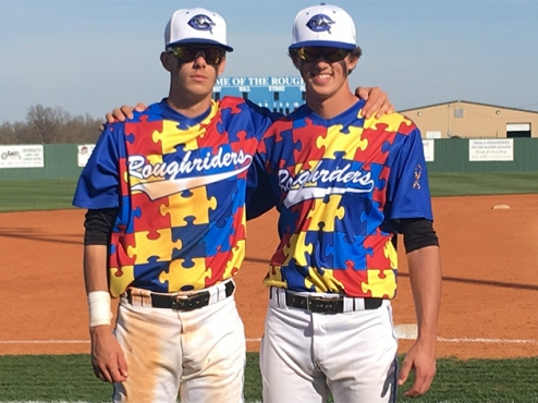 Two key pieces of the Crowder Roughhriders puzzle are 3B Kobe Morris (Victoria) and OF Tyler Duncan (Sooke, BC)