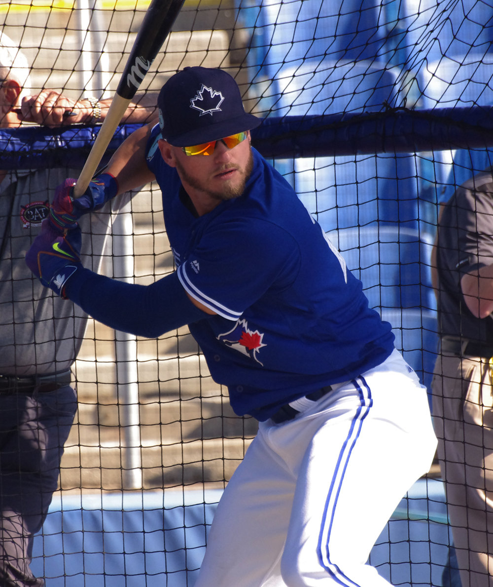 Josh Donaldson went 0-for-2 for the Dunedin Blue Jays on Monday in the first game of his rehab assignment. Photo Credit: Jay Blue