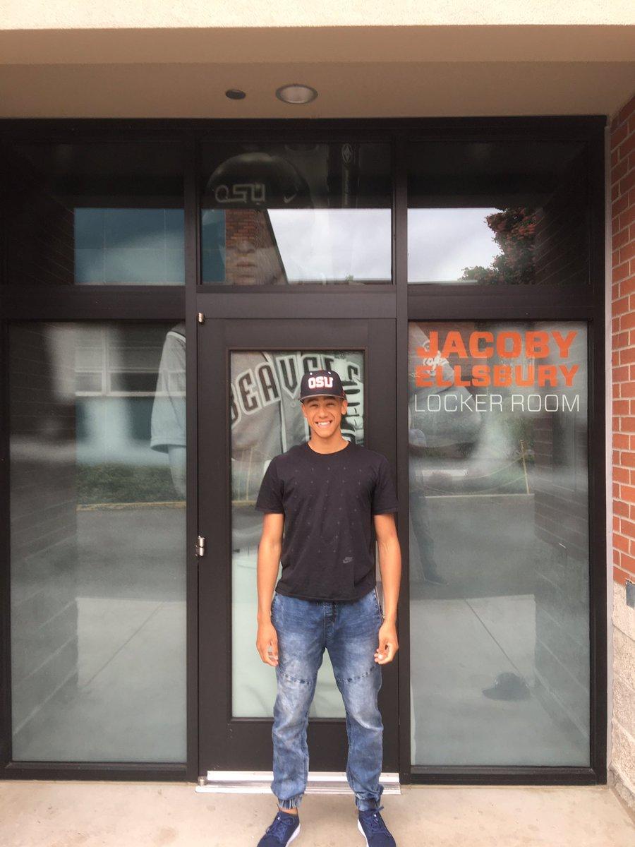 Cesar Valero (Calgary, Alta.) on his recruiting trip to Oregon State.