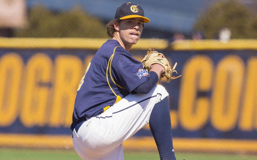 J.P. Stevenson (New Glasgow, PEI) worked seven innings and allowed only two earned runs as the Canisius Golden Griffins suffered their first loss at the Metro Atlantic Athletic Conference tourney staged at Sal Maglie Stadium in Niagara Falls, N.Y.   Photo Tom Wolf.smugmug.com