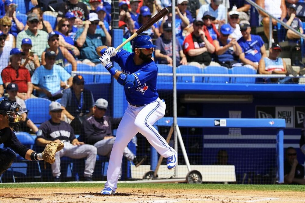 After a dismal April, Jose Bautista has been swinging a hot bat in May. This has helped the Toronto Blue Jays get back into the American League wildcard picture. Photo Credit: Amanda Fewer
