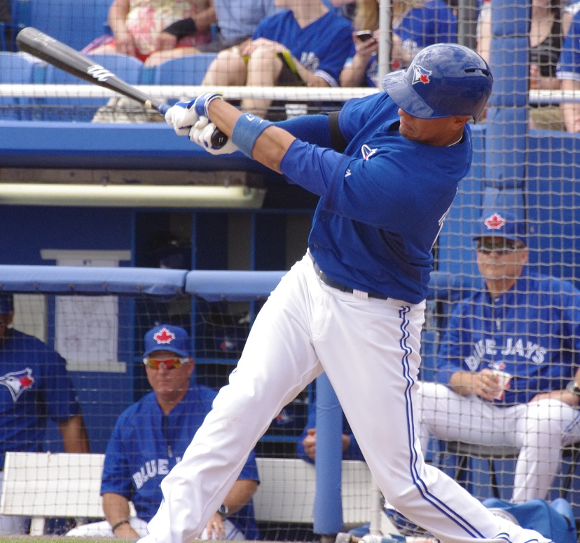 Toronto Blue Jays infielder Ryan Goins hit his first career grand slam in the sixth inning of Wednesday's game against the Milwaukee Brewers to help lead his club to an 8-4 victory. Photo Credit: Jay Blue