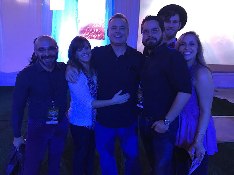 Southtown and the Gibbons family (left to right): Gabriel Acevedo (drums), mom julie Gibbons, pop John Gibbons, manager of the Blue Jays, Colton Daniels (bass player), Dana Smith (electric guitar) and daughter Jordan Gibbons vocals and rhythm guitar) at a Blue Jays Curve Ball gala Thursday night.