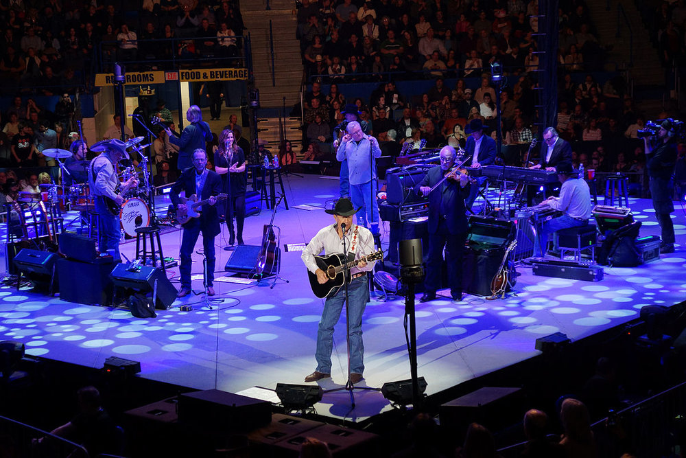 George Strait and The Ace in the Hole Band.