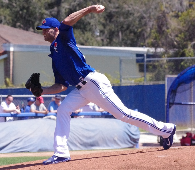 Out since April 16 with elbow inflammation, left-hander J.A. Happ will make his return and start for the Toronto Blue Jays on Tuesday against the Cincinnati Reds. Photo Credit: Jay Blue