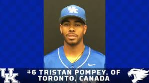 RF Tristan Pompey (Toronto, Ont.) doubled, singled and knocked in a run, while C Kole Cottam singled, homered and knocked in three runs in a win over Indiana.