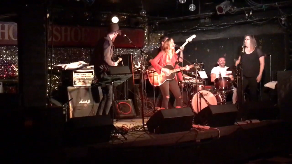 Jordan Gibbons and Southtown on stage at the Horseshoe Tavern