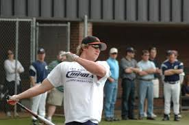 Adam Loewen slugging at a Chipola alumni home run derby