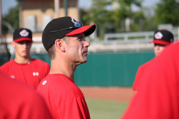 Greg Hamilton, head coach of Canada's Junior National Team, says he tries to the temper the expectations of his players prior to the MLB Draft. Photo Credit: Baseball Canada