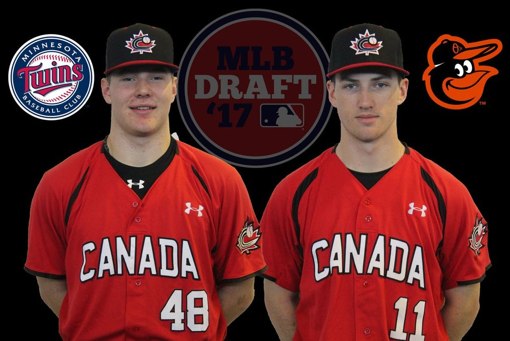 RHP Adam Leach (Pickering, Ont.) and INF Adam Hall (London, Ont.) were both second-round picks. Leach, of the Toronto Mets, was selected by the Minneosta Twins, while Hall of the Great Lake Canadians was chosen by the Baltimore Orioles.