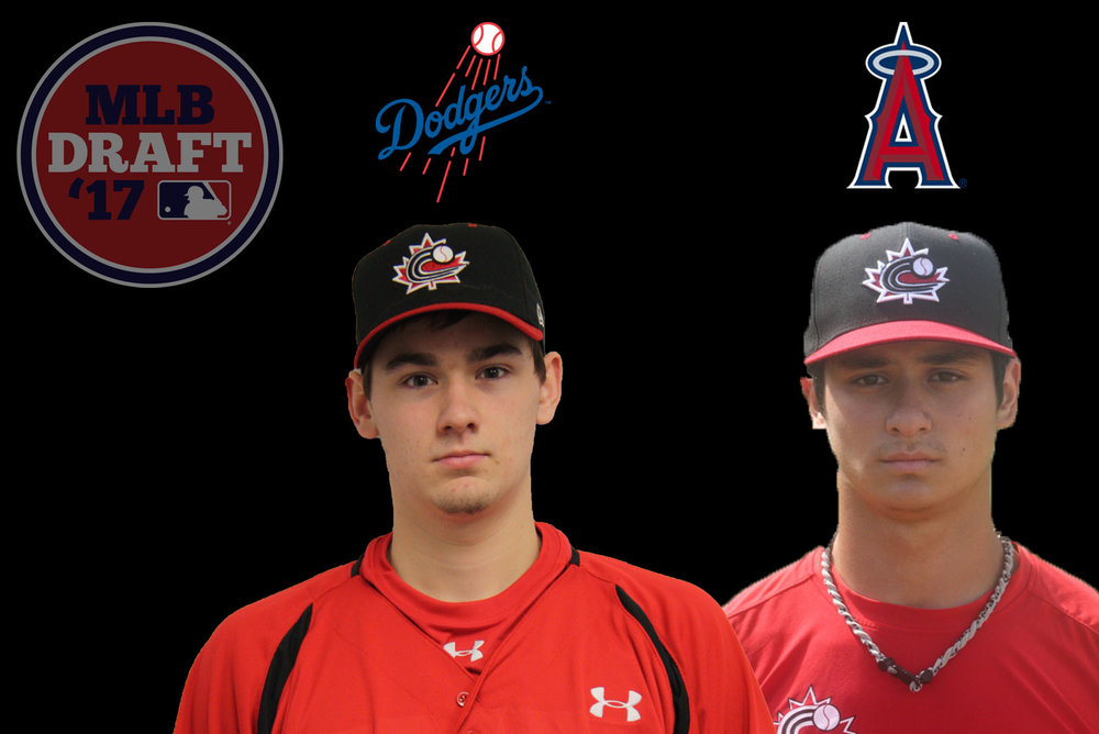 Right-handed pitchers Zach Pop (left) and Daniel Procopio (right) were the only two Canadians selected on the second day of the 2017 MLB Draft. Photo Credit: Baseball Canada