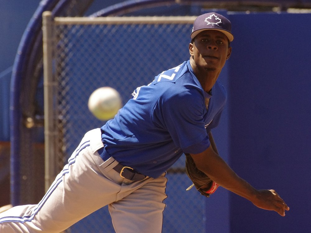 Vancouver Canadians right-hander Dany Jimenez allowed just one hit in five innings and struck out five to lead his club to a win over the Eugene Emeralds on Monday. Photo Credit: Jay Blue