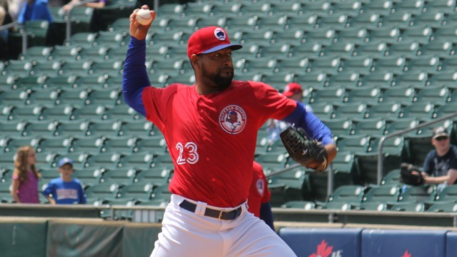 The Toronto Blue Jays recalled right-hander César Valdez from the triple-A Buffalo Bisons on Wednesday. Photo Credit: Lucas Sperduti