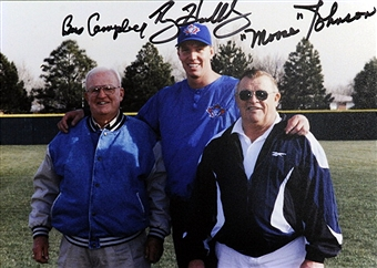 Colorado Men one and all from left to right: Bus Campebll, pitching coach and Blue Jays coach, former Cy Young award winner Roy Halladay and scout Wilbur (Moose) Johnson.