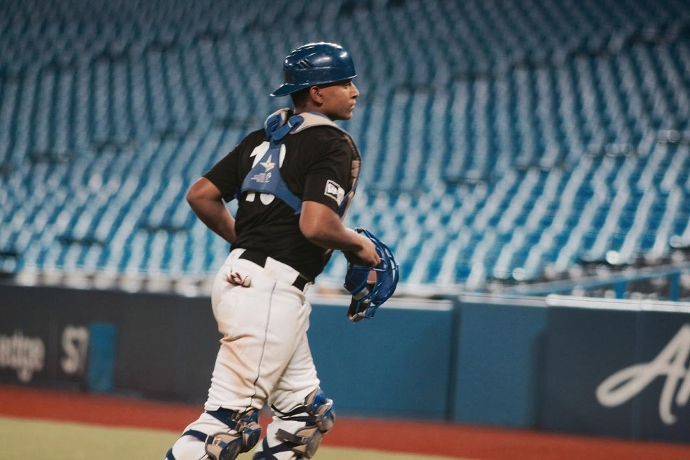 C Noah Naylor (Mississauga, Ont.) of the Ontario Blue Jays is the top ranked player coming into this September's Tournament 12. Photo: Tyler King.