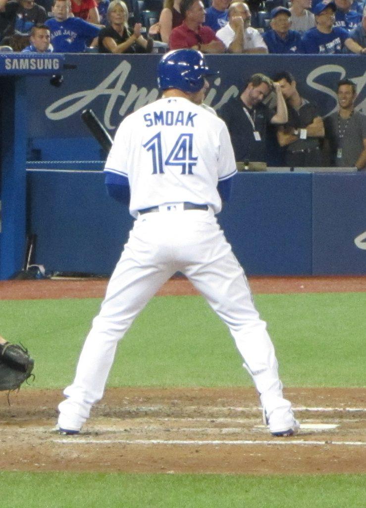 Toronto Blue Jays first baseman Justin Smoak continues to enjoy an all-star worthy season. Photo Credit: Jay Blue